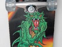 Skateboard spartan dragon - roti silicon - ax aluminiu - nou