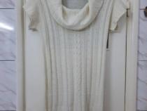 Rochie tunica pulover alba Takko marimea L - Noua