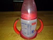 NUK Rosu biberon FC din PP 150 ml cu 2 toarte