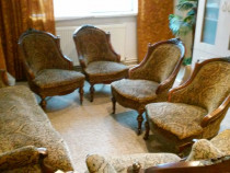 Set canapea si fotolii Louis Philippe