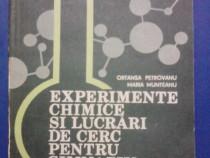 Experimente chimice si lucrari de cerc / R1S