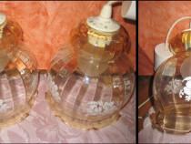 Lampadare pereche sticla plasticata in forma de clopotei