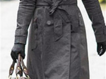 Jacheta lunga /palton de dama cu captusala detasabila + cado