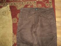 Pantaloni dama piele naturala culoare maro marimea 38