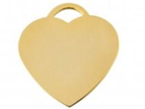 Medalion Animale personalizat,406A Inima Suflata cu aur
