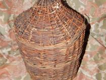Damigeana romaneasca 10L cu invelis de nuiele