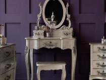 SEG53 - Set Masa Argintie toaleta cosmetica machiaj oglinda