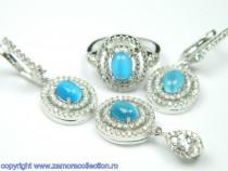 Set bijuterii argint rodiat Model ST165722