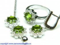 Set bijuterii argint rodiat zultanit Model ST149001