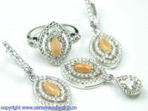 Set bijuterii argint rodiat Model ST155521