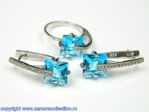 Set bijuterii argint rodiat Model ST097028
