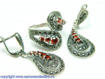 Set bijuterii argint rodiat Model ST394552