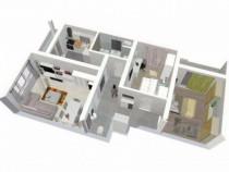 Apartament 3 camere,2 balcoane,Soseaua Alexandriei-Bragad