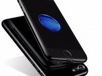Iphone 7 Husa Jet Black Neagra Lucioasa Silicon Slim