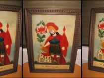 SF. Florianus-Icoana naiva pictata pe sticla stare buna
