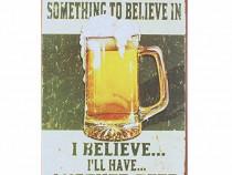 Semn / Poster metalic vintage Beer 20x30 cm