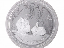 Moneda de Argint Lunar II Series Rabbit 2011 1oz