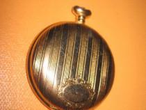 7206-Carcasa vintage Ceas buzunar metal aurit. Stare buna.