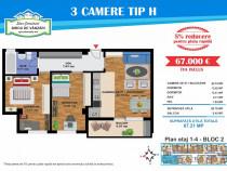 Stradal Luica - apartament 3 camere