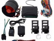 Alarma auto universala cu 2 telecomenzi senzor soc set kit
