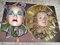 777-Aplice tinere femei costum carnaval cu cap ceramica.