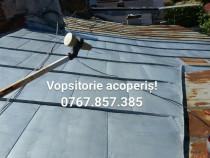 Renovare, vopsitorii acoperiș din tabla, cu alpiniști