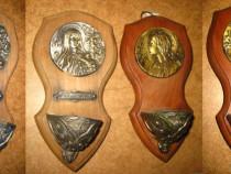 859-Candele mici pereche Fecioara Maria stil Art Nouveau.