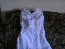 Rochie mireasa saten 44-46,corset
