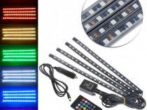 Kit interior led smd rgb cu telecomanda 4p5
