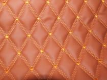 Material romb tapiterie maro / cusatura maro