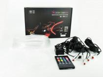 Fir neon RGB cu telecomanda 12V