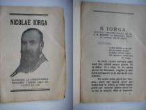 Nicolae Iorga-Inchinare 60 ani. Omagiere.