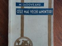 Cele mai frumoase amintiri - M. Sadoveanu 1935 / R1F