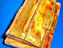 384a-Caseta mica veche os/alama manual executata cca 1900.