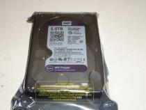 Hard-disk WD 5 TB-Purple NOU-sigilat Sata3 64MB 100% L168