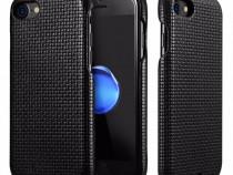 Husa piele adaptor QI pt incarcare wireless, iCarer iPhone 7
