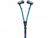 Casti audio handsfree zipper blue forever in-ear cu dop prod