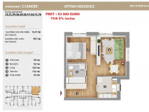 Apartament 2 camere, decomandat, zona linistita Optima