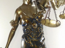 Statuie Mare Zeita Justitiei cu ceas (43 cm)