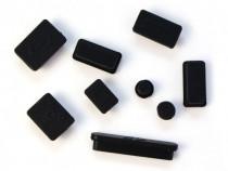 Set 9 capace, dopuri mufa silicon protectie anti praf MacBoo