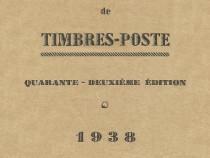 Catalog filatelic vintage Yvert et Tellier 1938