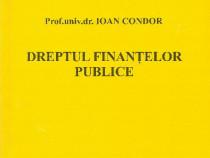 Carte curs Dreptul finantelor publice, Ioan Condor