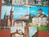 Set 6 cărți postale necirculate mănăstiri din Romania