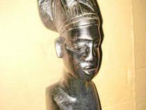 Statuieta veche Art Deco bust Femeie Africa abanos.