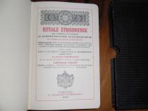 Carte bisericească, ritualuri în limba latină, din anul 1908