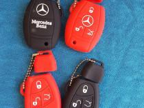 Husa silicon cheie mercedes clasa a,c,e,s 3 butoane logo