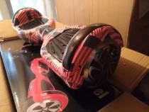 Hoverboard american flag 1000w nou telecomanda bonus geanta