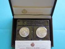 Set monede comemorative argint - San Marino, 1987 - FDC