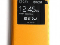 Folie potectie + Husa flip Samsung Galaxy Note 3, carcasa pr