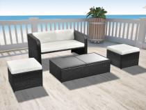 Set mobilier de grădină cu canapea 9 piese, poliratan(42481)